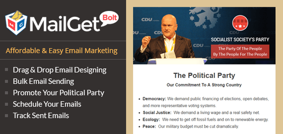 Email marketing for Political Party Slider
