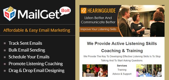 Email marketing for effective listening Slider