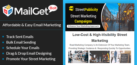 Email marketing for street marketing banner