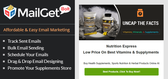 Email marketing for vitamins & supplements Slider