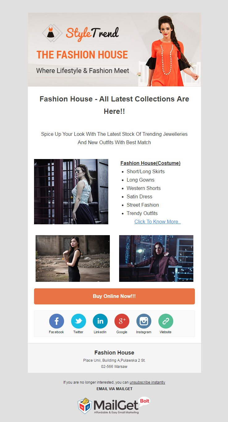 Fashion House Email Template