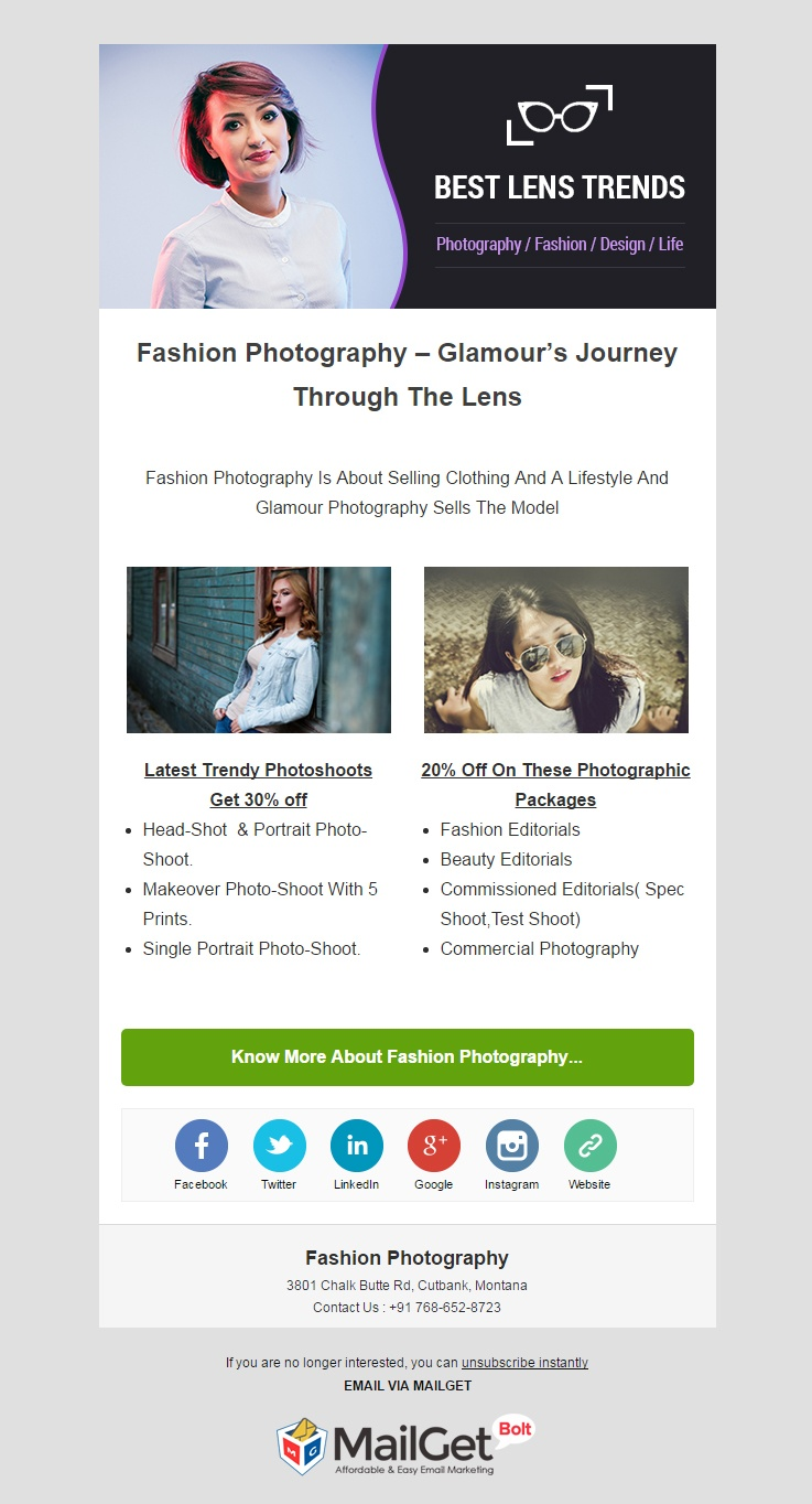 Fashion Photography Email Template
