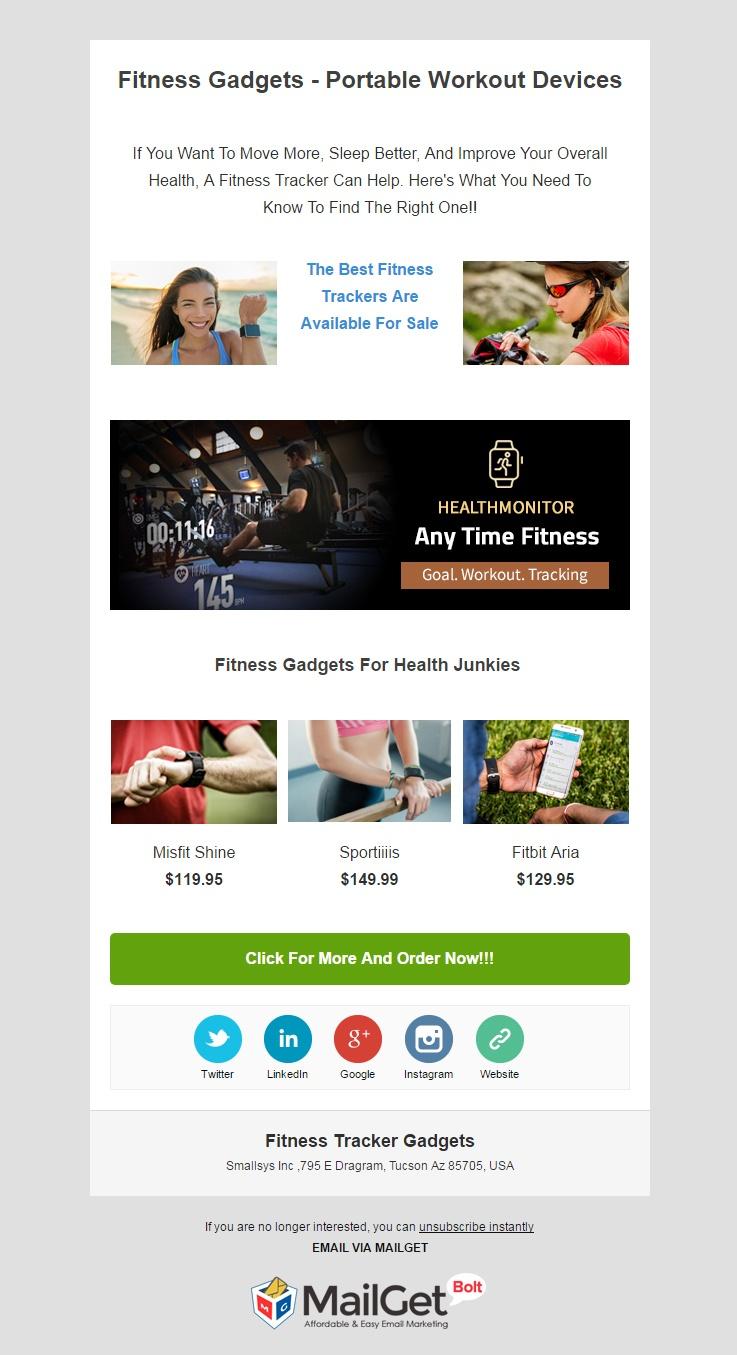 Fitness Tracker Gadgets