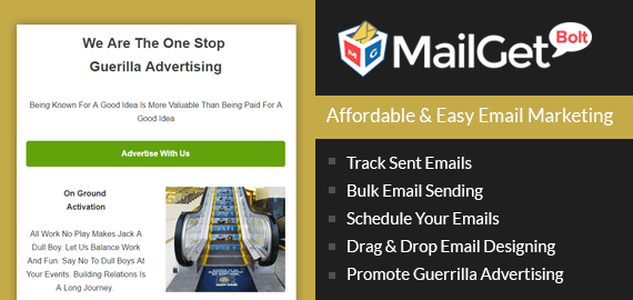 Guerrilla Advertising Email Marketing For Service Slider
