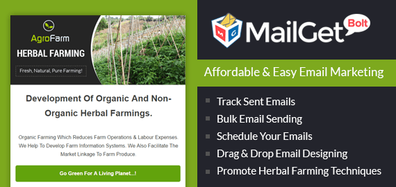 Herbal Farming Email Marketing Service
