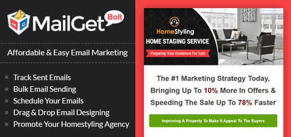 Email Marketing Service For Home Staging