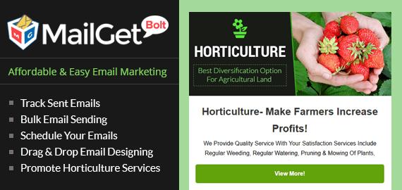 Horticulture Email Marketing Service Slider