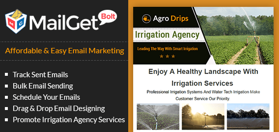 Irrigation Agency Email Marketing Service Slider
