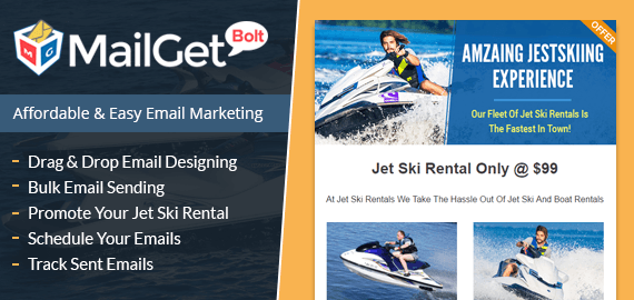 Jet Ski Rental Email Marketing Service For Personal Watercraft Rent Companies