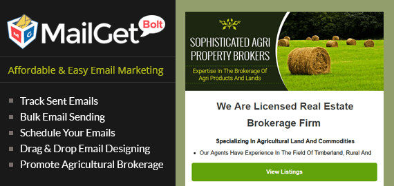 Agricultural Brokerage Email Marketing Service