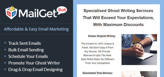 Email Marketing Service For Ghost Writers