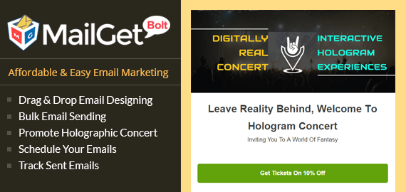Email Marketing Service For Holographic Concerts