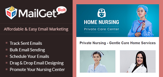 MailGet Bolt - Email Marketing Service For Private Nursing Centres Slider