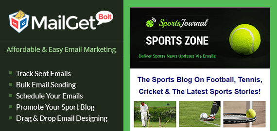MailGet Bolt - Email Marketing Service For Sports Bloggers & Reporters