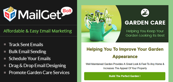 Gardening Care Email Marketing Service