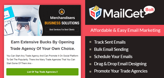 MailGet Bolt - Email Marketing Service For Trade Agencies & Business Owners