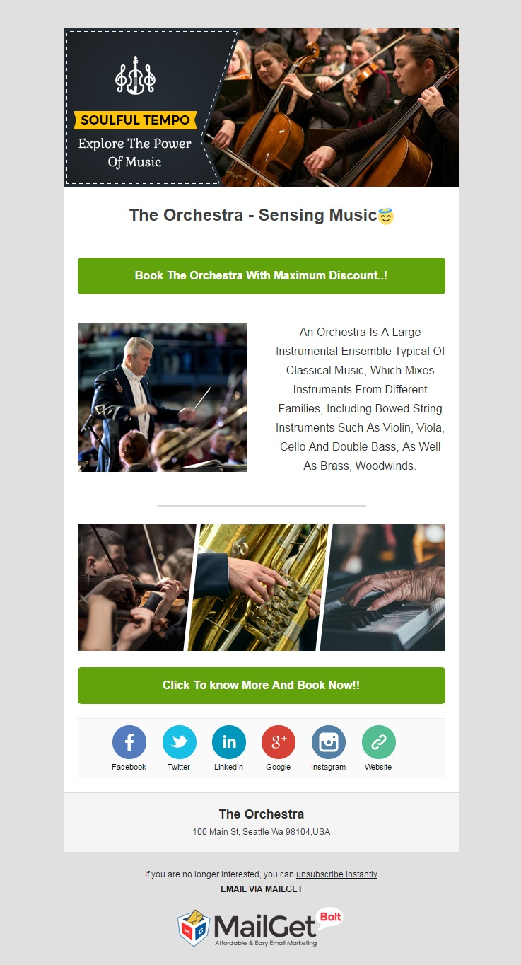 Orchestra Email Template