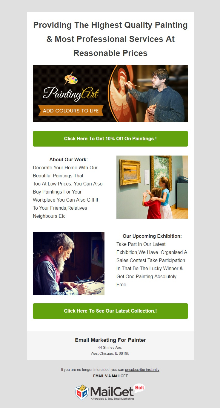 Painters Email Template