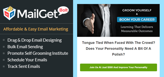Personality Development Classes Email Marketing Service For Grooming Institutes