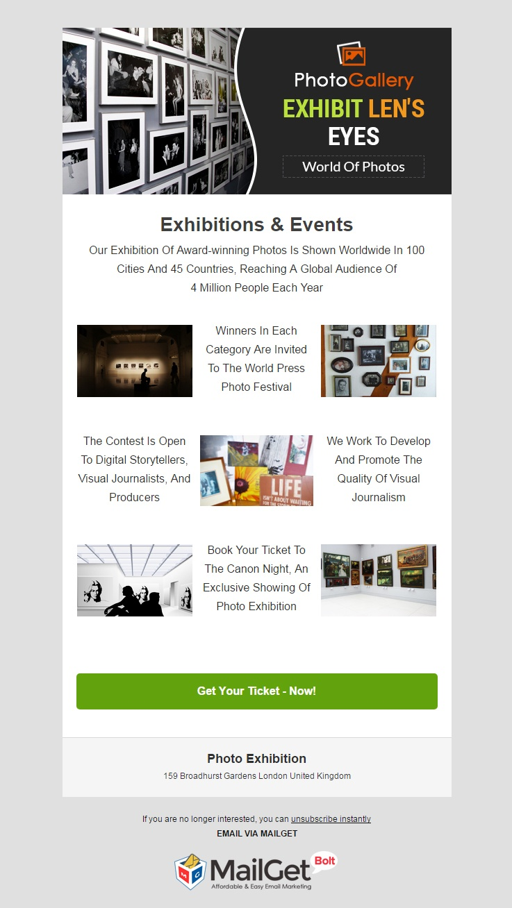 Photo Exhibition Email Template