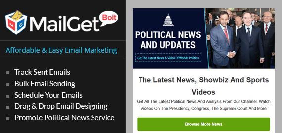 Political News Email Marketing Service Slider