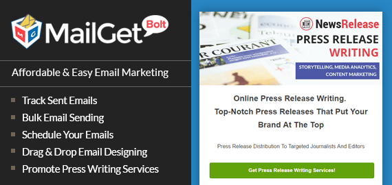Press Release Email Marketing Service