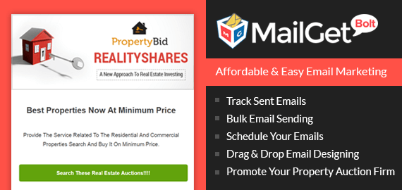 Email Marketing Service For Real Estate Auctions