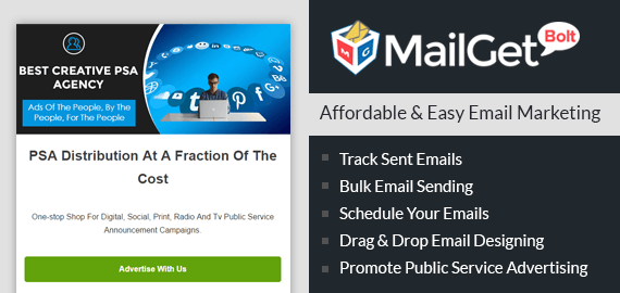 Public Service Advertising Email Marketing Software For Social Issues Announcements