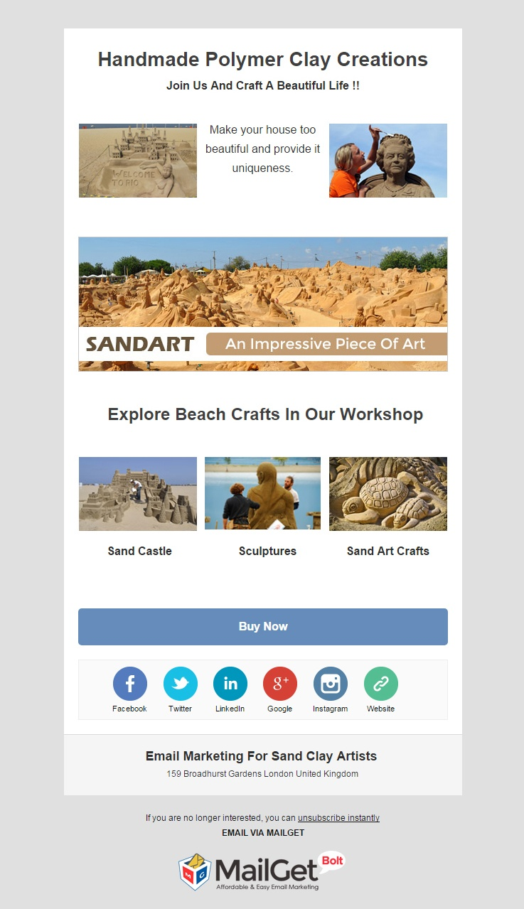 Sand Artists Email Template