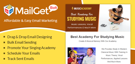 Singing Academy Email Marketing Service
