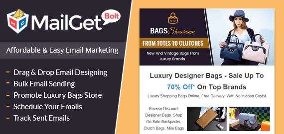 Email Marketing Service For Luxury Bags Slider