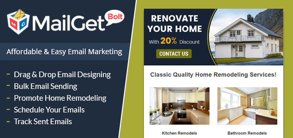 Email Marketing Service For House Remodeling & Renovating Contractors