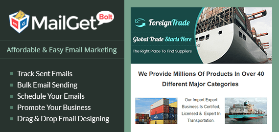 Email Marketing Service For Import Export Businesses & Foreign Traders