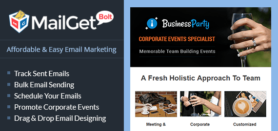 Email Marketing Service For Corporate Events & Business Party Planners