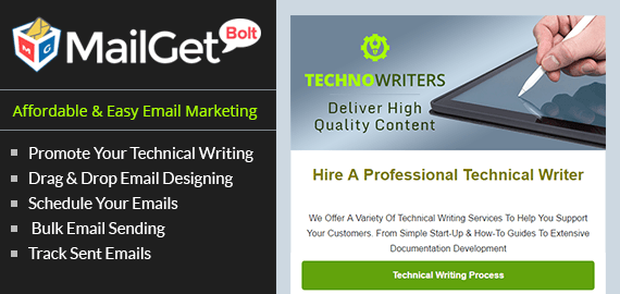 Email Marketing Service For Technical Writers & Editors