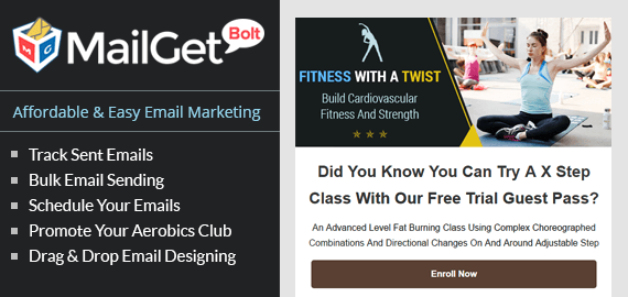 Email Marketing Service For Aerobics Clubs