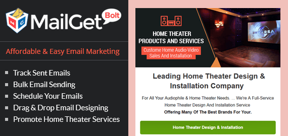 Email Marketing For Home Theater Service