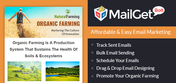 Organic Farming Email Marketing Service