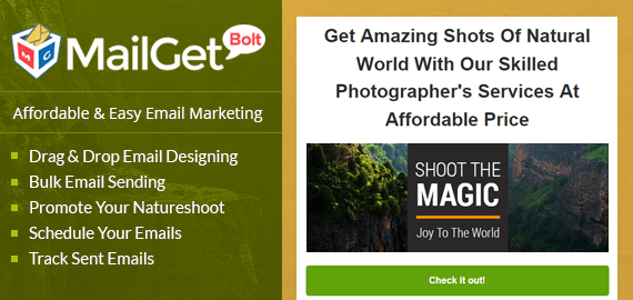 Email Marketing Service For Natureshoot & Landscapes Photographers