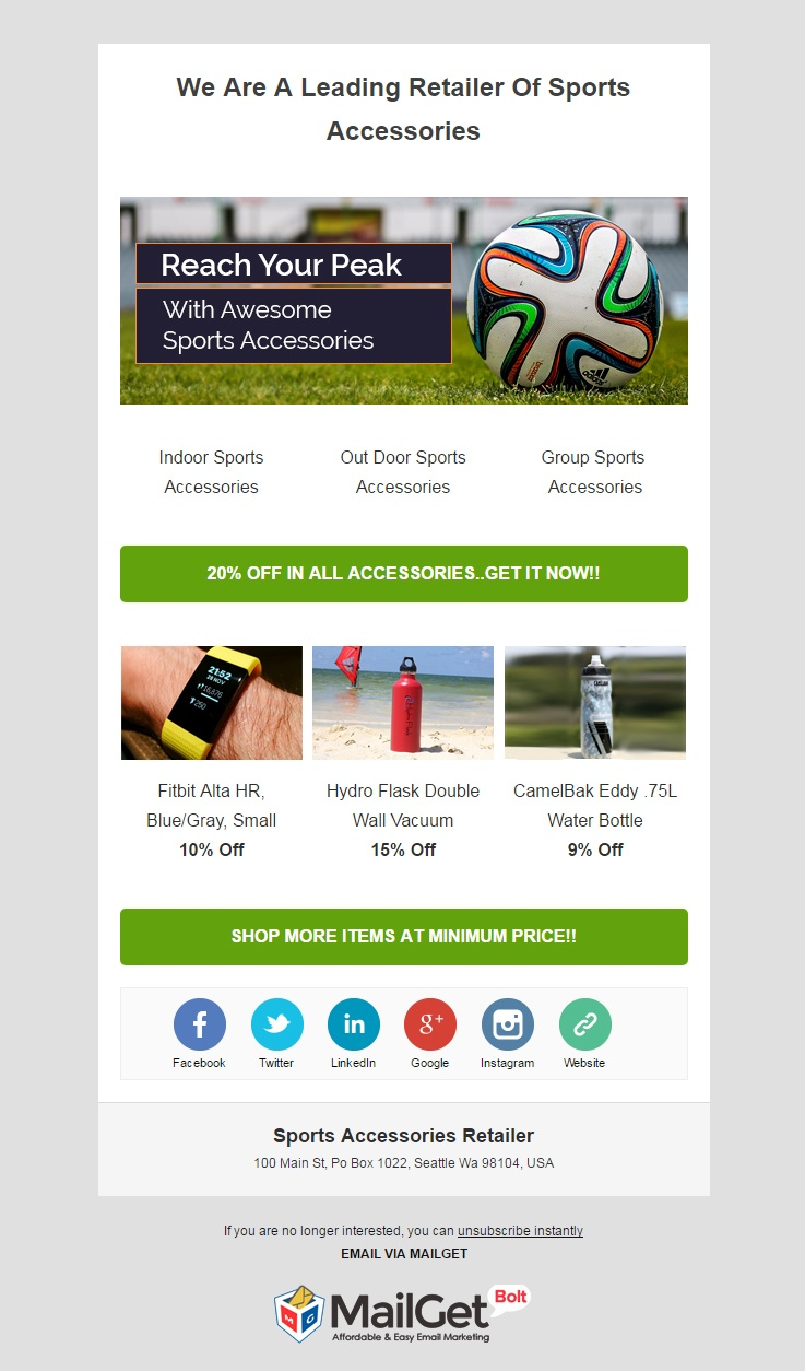 Sports Email Templates
