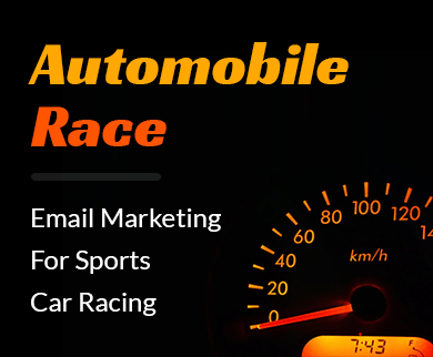 Sports Car Racing Email Marketing Service