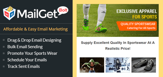 Email Marketing For Sports Wear Services