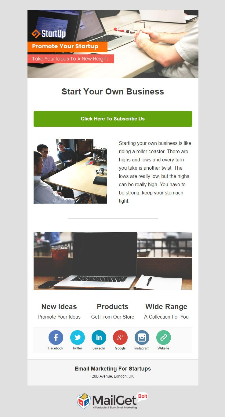 Startup Email Templates