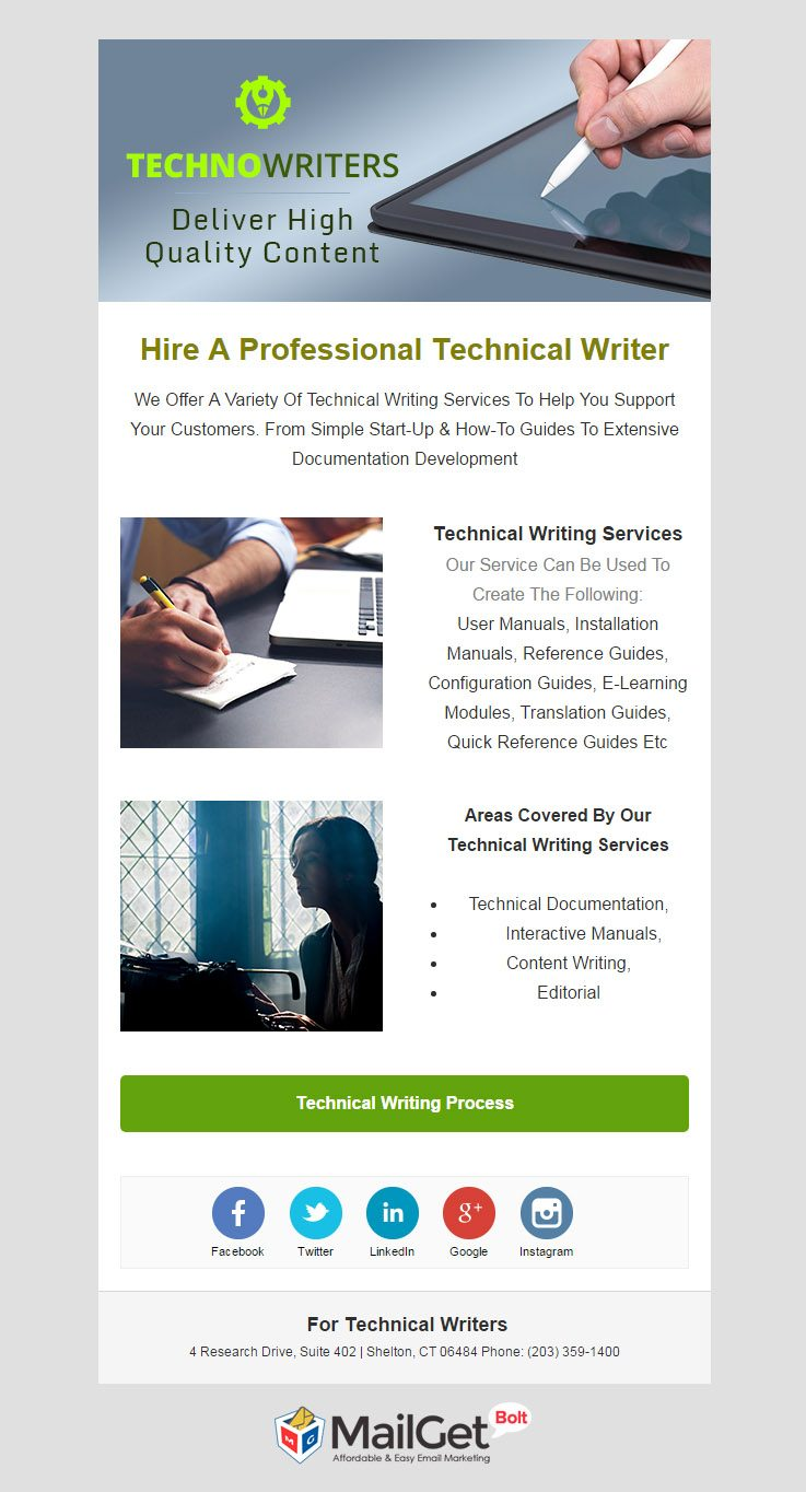 Technical Writers Email Template