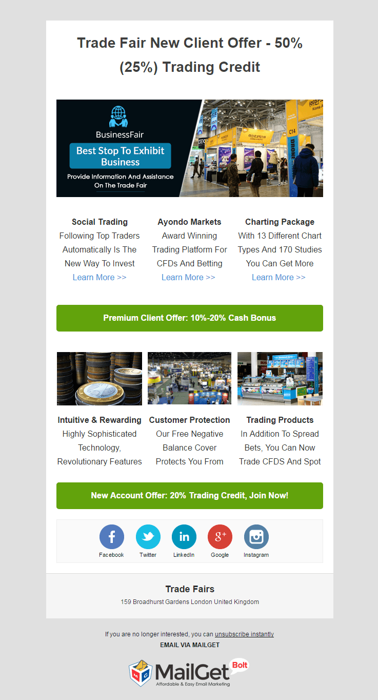 Trade Fairs Email Template