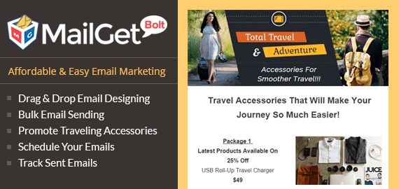 Traveling Accessories Email Marketing Service For Trip Kits, Journey Essentials