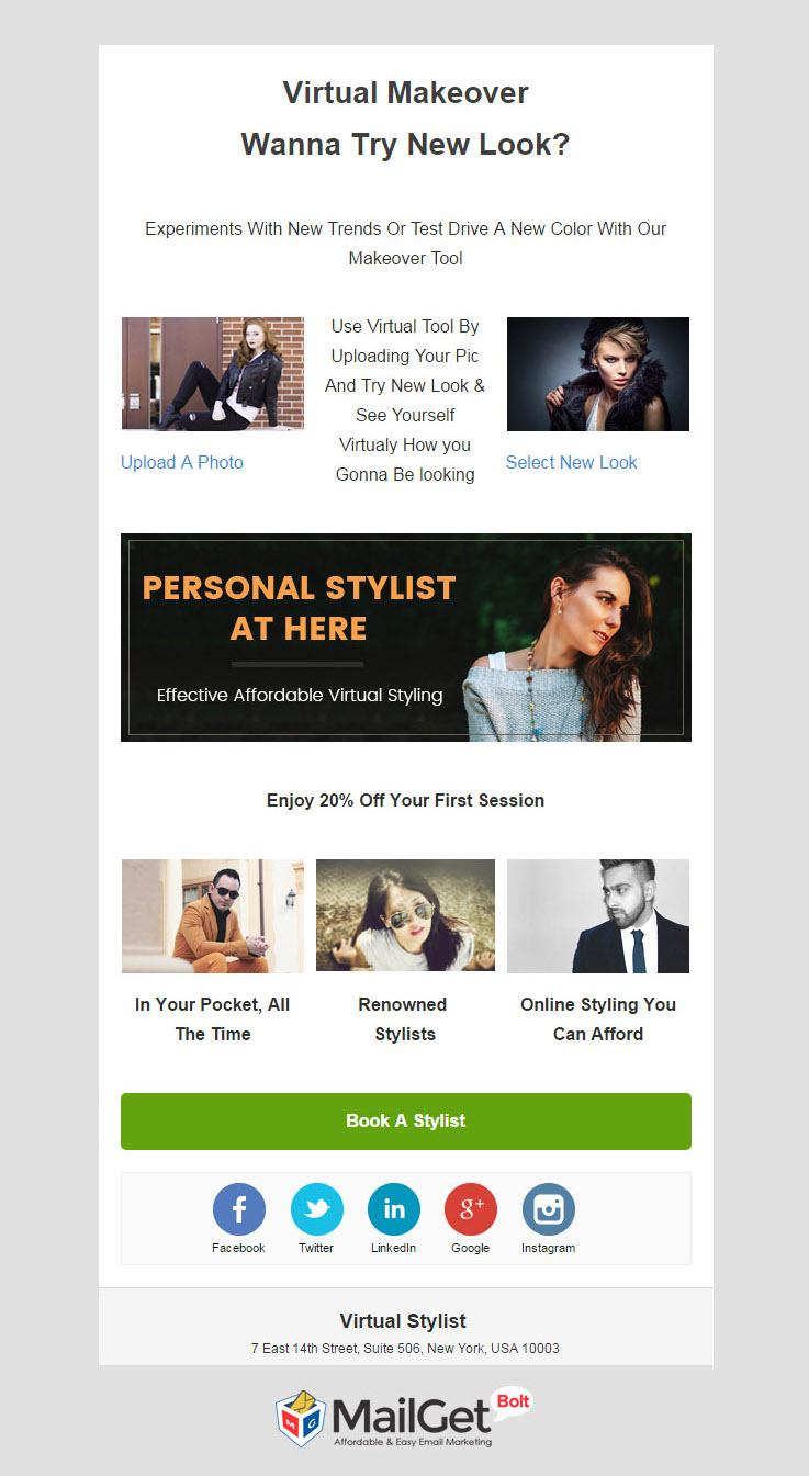 Virtual Stylist Email Template