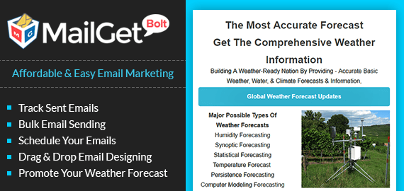 Weather Forecast Email Marketing Service