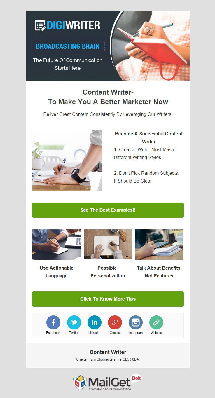 Email marketing for content writer