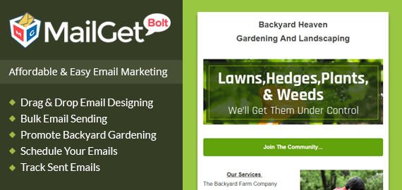Backyard Gardening Email Marketing Service For Greenhouses & Home Farmers